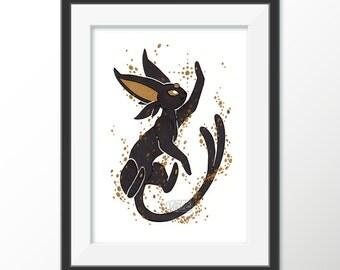 Gilded Eeveelutions Series: Espeon [5x7 & 8x10 PRINTS]