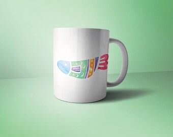 Watercolor Fish mug