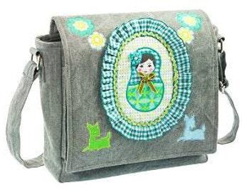 """Shoulder bag """"Matroshka turquoise"""""""
