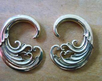 brass patra earing