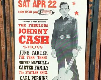 Johnny Cash Show Poster