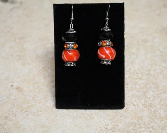 Beautiful orange and black dangles