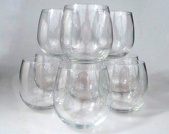 Seven Wine Glass Tumblers