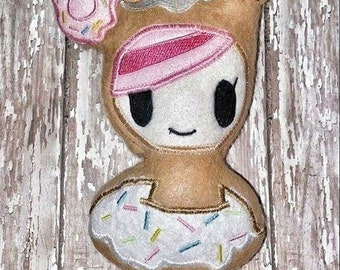 ITH Donut Girl Stuffie Embroidery Design