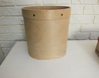 Oval Unfinished Wood Waste Trash Can Bentwood Bent wood