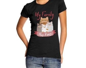 Women's My Family Has Paws T-Shirt