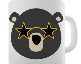 Disco Glasses Bear Ceramic Tea Mug