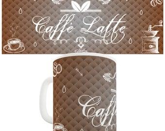Decorative Caffe Latte Ceramic Mug