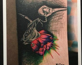 "HUMMING BIRD (5""x5"" Prints)"