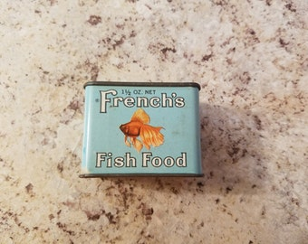 1950s Vintage Tin - French's Fish Food