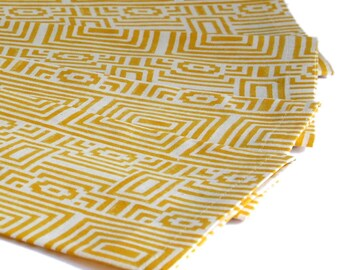 Geometrical Indian Wood-Block Printed Napkins sold in sets