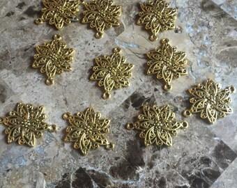 Tibetan Silver Links, Flower