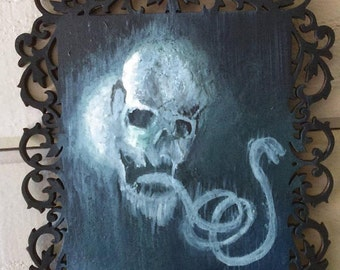 Dark mark - Hand painted wood decor