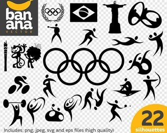 SALE Olympics 2016 Silhouettes png jpg svg eps files high resolution BV-SP-0056