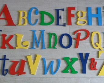 Alphabet Set, Wooden letters, Wall art letters, Wall letters, Nursery letters, Nursery Decor
