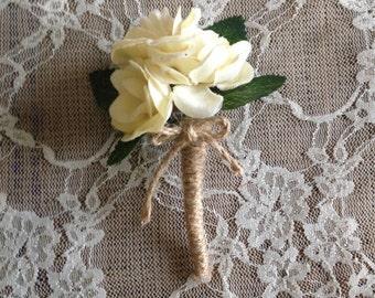 Rustic Bridal Boutonniere