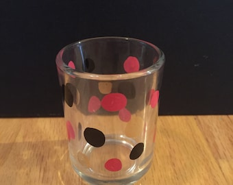Hand painted tea light candle holders come in set of 2