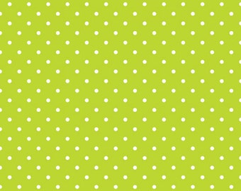 Quilting Fabric -Small Cotton Dots Lime by Riley Blake Designs