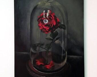 Original Acrylic Rose Painting - Eye of the Beholder