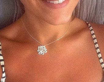 Lotus Silver Necklace