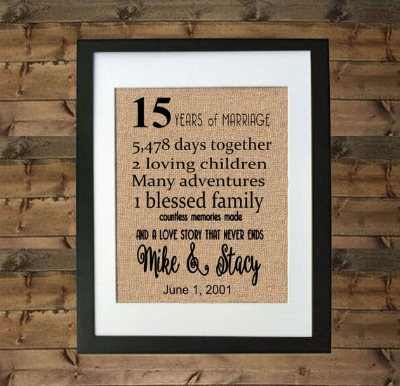 15 Year Wedding Anniversary Gifts For Her : ... 15 Year Anniversary Gift15 Year Anniversary Gift for HerGift for