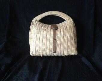 VINTAGE 1950's BASKET BAG