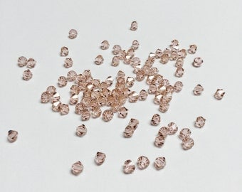 Swarovski Crystal Bicones 4 MM Vintage Rose - 100 Pieces - CB026