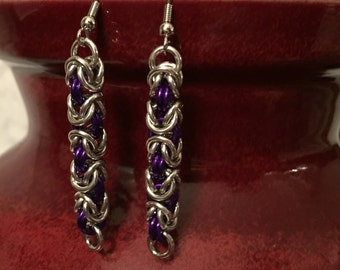 Purple & Silver Aluminum