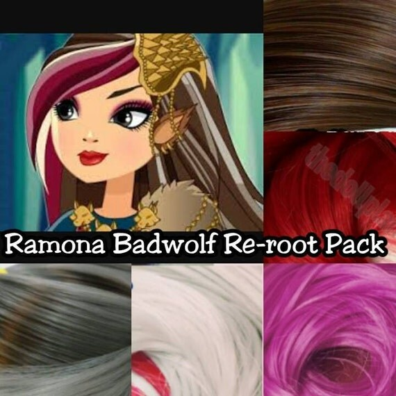 Ever After High Cerise Hood's Sister Ramona Badwolf Doll Hair Rerooting Pack for Customizing your own OOAK Doll INTL SHIP
