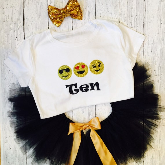 GET ALL 3 Emoji Birthday outfit any color by LittleHeartsCo