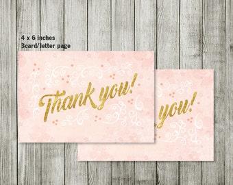 BRUNCH thank you card  - BRUNCH invitation - Baby shower invitation - BRUNCH - boy girl invitation - pink invitation
