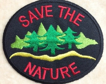 Save The Nature Iron On Patch #1
