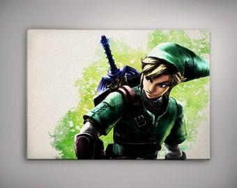 Link Poster, Legend of Zelda Poster ,The Legend of Zelda Room Decor, Legend of Zelda Print, Zelda Watercolor,Legend of ZeldaArt