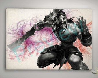 League of Legends Draven, League of Legends Poster, League of Legends Watercolor, League of Legends Wall Decor