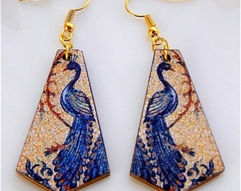Forex-mosaic Peacock earrings