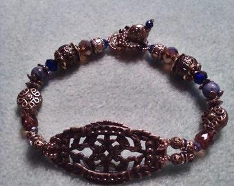 Filigree medallion bracelet