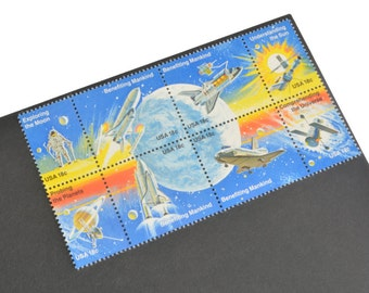 24 Space Postage Stamps - 18c - Vintage 1981 - Unused Space Exploration Postage - Quantity of 24