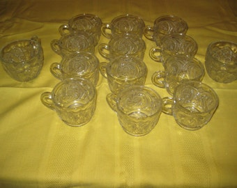Glass Cups for Punch