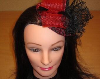 RED AND BLACK HEADDRESS