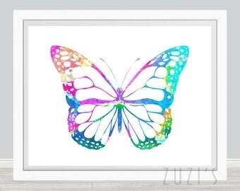Butterfly  Art Print, Poster, Wall Art, Home Decor, Kids Wall Art, Play Room Wall Art, Nursery Wall Art, Archival print