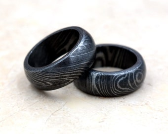 Unique Damascus Steel Men's Ring - Handcrafted Forged 180 Layers - Engagement or Gift - Locally Made - 50% Off Sale