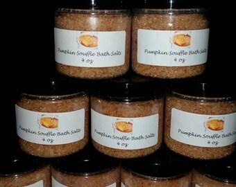 Pumpkin souffle bath salts 4oz