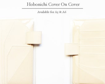 Hobonichi cover, Hobonichi planner cover, Hobonichi cover on cover, A6 size, A5 size, Clear cover / Transparent Sleeve / Clear Sleeve