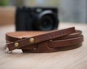 Leather camera shoulder strap for Fujifilm Leica  Olympus Sony and more Camera strap