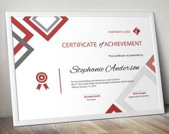 Diamond Corporate Business Certificate Template For MS Word (docx),  Business Certificate, Event  Corporate Certificate Template