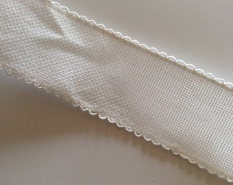 White aida, embroidery, cross-stitch, fabric band of 5 cm wide sold per metre
