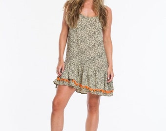Mondays Muse Dress With Pom Pom Hem
