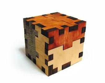 Wooden 3D Jigsaw Puzzle - Torturer's Cube