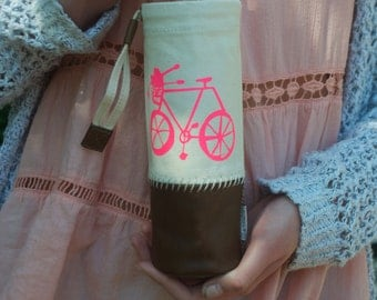 Hot Pink Bike Water Bottle