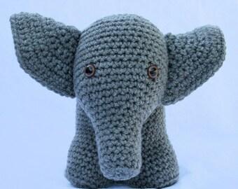 Elephant, crochet elephant, grey elephant, birthday gift, baby shower gift, stuffed toy, amigurumi elephant, crochet animal, amigurumi